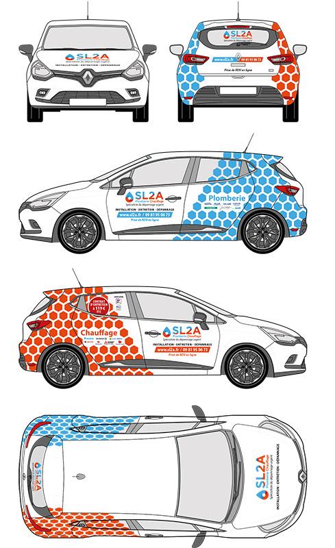 création graphique marquage véhicules